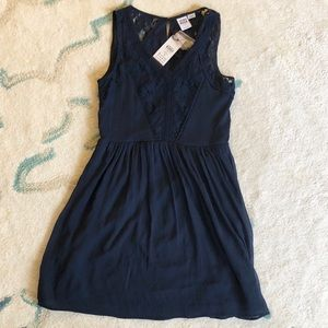 Navy dress with lace
